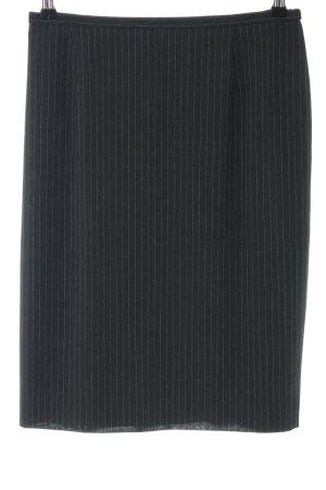 Armani Collezioni Jupe crayon noir motif rayé style d'affaires