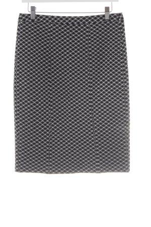 Armani Collezioni Jupe crayon blanc-noir imprimé allover style d'affaires