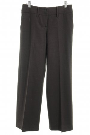 Armani Collezioni Bundfaltenhose braun Allover-Druck Business-Look