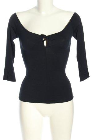 Armani Collezioni Koszula typu carmen czarny W stylu casual