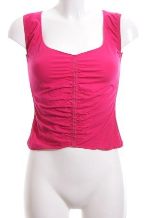 Armani Collezioni T-shirt court rose style décontracté