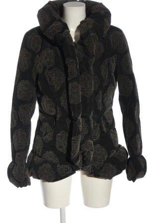 Armani Collezioni Donsjack zwart-bruin volledige print casual uitstraling