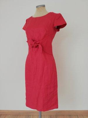 Armani Collezioni Gr. it 40 D 36 S koralle pink Leinen Etuikleid Leinenkleid Kurzarmkleid