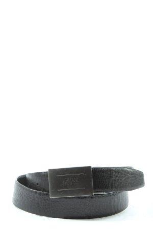 Armani Collezioni Hebilla del cinturón negro look casual