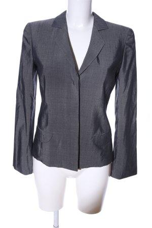 Armani Collezioni Blazer en jersey gris clair Motif de tissage