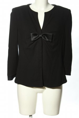 Armani Collezioni Blazer en jersey noir style décontracté