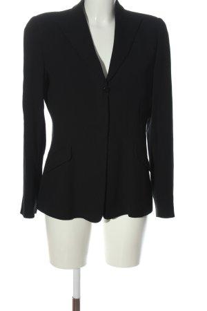 Armani Collezioni Klassischer Blazer zwart zakelijke stijl