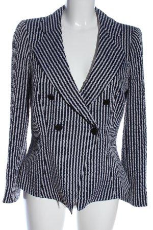 Armani Collezioni Kurz-Blazer blau-weiß Streifenmuster Casual-Look