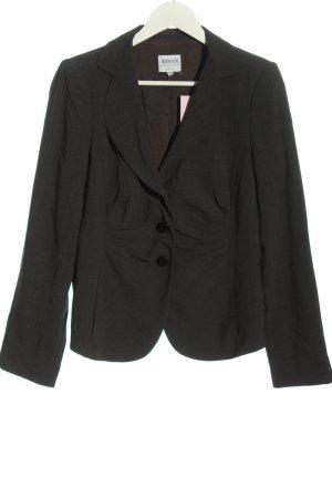 Armani Collezioni Korte blazer zwart gestippeld casual uitstraling