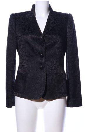 Armani Collezioni Korte blazer zwart volledige print zakelijke stijl