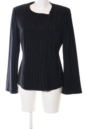 Armani Collezioni Blazer court noir motif rayé style d'affaires
