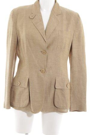 Armani Collezioni Korte blazer nude volledige print zakelijke stijl