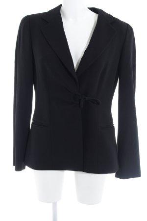 Armani Collezioni Blazer court noir tissu mixte