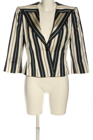 Armani Collezioni Kurz-Blazer weiß-schwarz Streifenmuster Casual-Look
