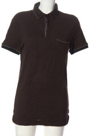 Armani Collezioni Shirt met korte mouwen bruin casual uitstraling