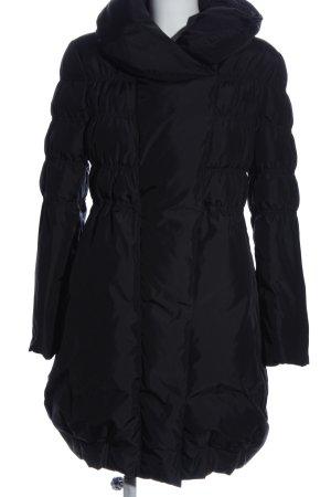 Armani Collezioni Veste longue noir motif de courtepointe style décontracté