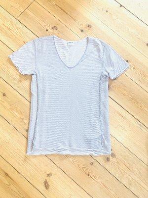 Armani Collezioni Pull à manches courtes argenté-gris clair coton