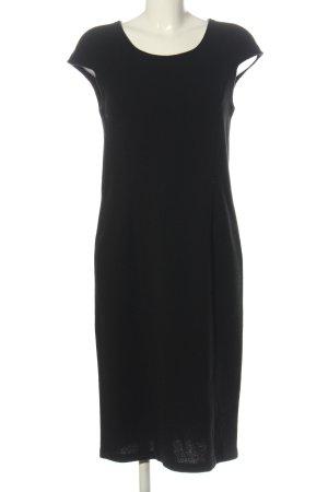Armani Collezioni Jurk met korte mouwen zwart zakelijke stijl