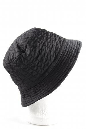 Armani Collezioni Rain Hat black quilting pattern casual look