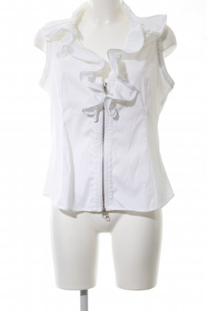 Armani Collezioni Ruche blouse wit casual uitstraling