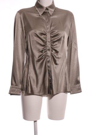 Armani Collezioni Blouse en soie brun style d'affaires