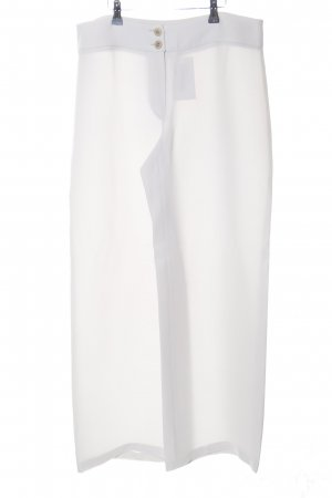 Armani Collezioni Pantalon en jersey blanc style d'affaires
