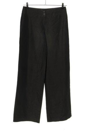 Armani Collezioni Pantalon en jersey noir style classique
