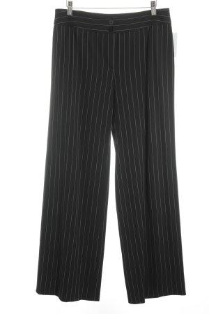 Armani Collezioni Stoffhose schwarz-weiß Business-Look