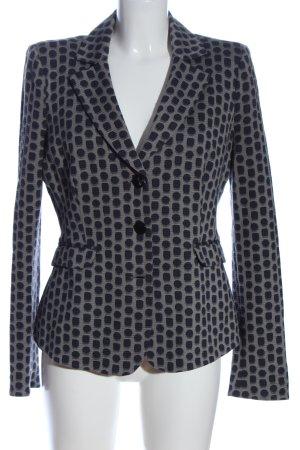 Armani Collezioni Blazer en maille tricotée gris clair-bleu imprimé allover