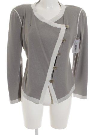 Armani Collezioni Veste en tricot blanc-gris style classique