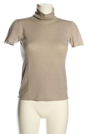 Armani Collezioni T-shirts en mailles tricotées brun style décontracté