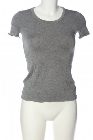 Armani Collezioni Knitted Jumper light grey flecked casual look