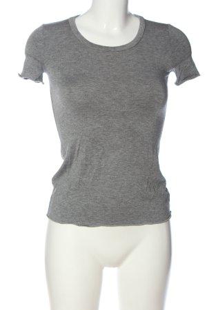 Armani Collezioni Koszulka z dzianiny jasnoszary Melanżowy W stylu casual