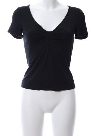 Armani Collezioni T-Shirt schwarz Casual-Look