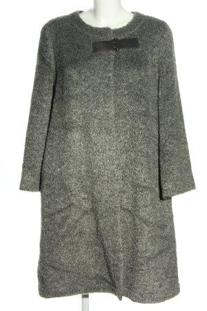 Armani Collezioni Manteau en laine gris clair moucheté style décontracté