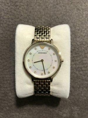 Emporio Armani Zegarek biały-złoto