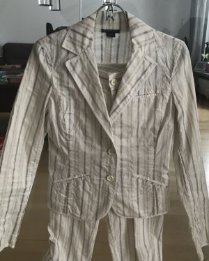 Armani Exchange Suit white-silver-colored