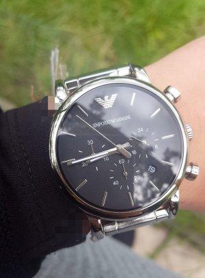 Emporio Armani Montre avec bracelet métallique gris clair-gris