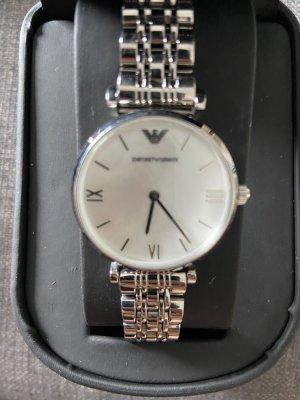 Emporio Armani Zegarek z metalowym paskiem srebrny