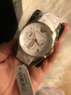 Armani Analog Watch white-gold-colored