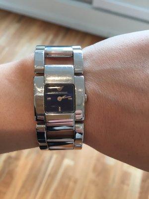 Armani Horloge zilver-blauw
