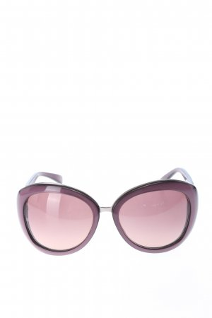 Armani eckige Sonnenbrille lila Casual-Look