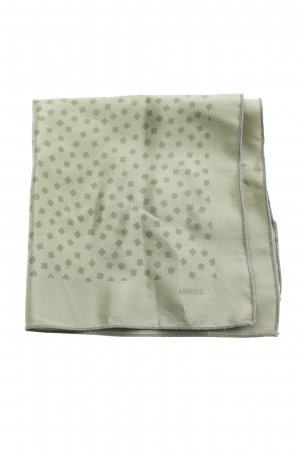 Armani Pocket Square green graphic pattern business style