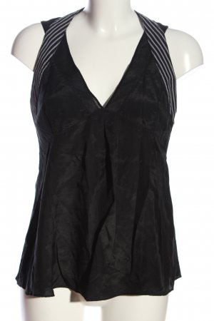 Armani Exchange Sleeveless Blouse black-pink striped pattern casual look