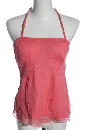 Armani Exchange Mouwloze blouse roze casual uitstraling
