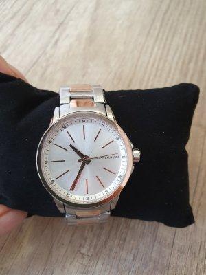 Armani Exchange AX4363 Damenuhr Armbanduhr silber rosègold neu bicolor Edel-stahl