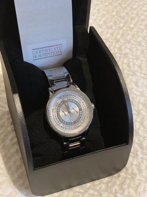Armani Exchange Zegarek z metalowym paskiem srebrny