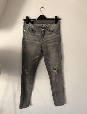 Armani Exchange Tube jeans grijs-lichtgrijs