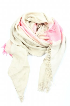 Armani Exchange Fringed Scarf natural white-pink casual look