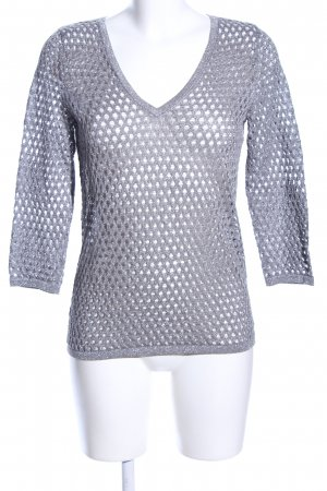Armani Exchange Coarse Knitted Sweater light grey simple style